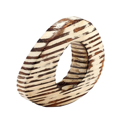 Oval Eye Beige Napkin Ring - Pack of 4