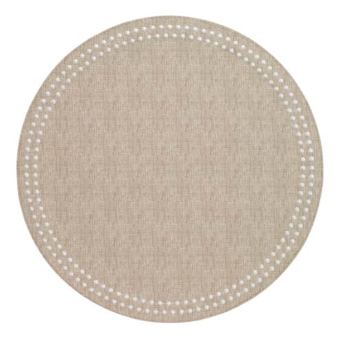 Pearls Beige White Mats Pack of 6