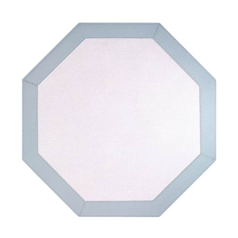 Bordino Ant White Celadon Octagon Mats - Pack of 4