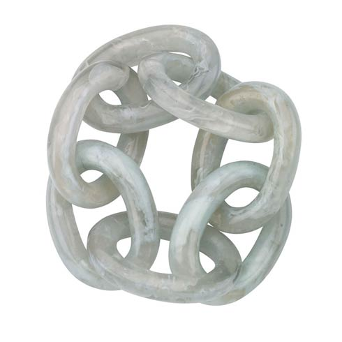 Chain Link Celadon Napkin Ring - Pack of 4