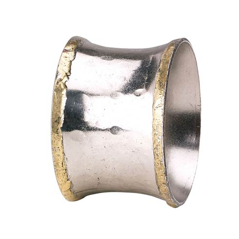 Concave Metallic Napkin Ring - Pack of 4