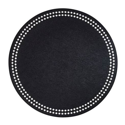 Pearls Black White Mats - Pack of 4