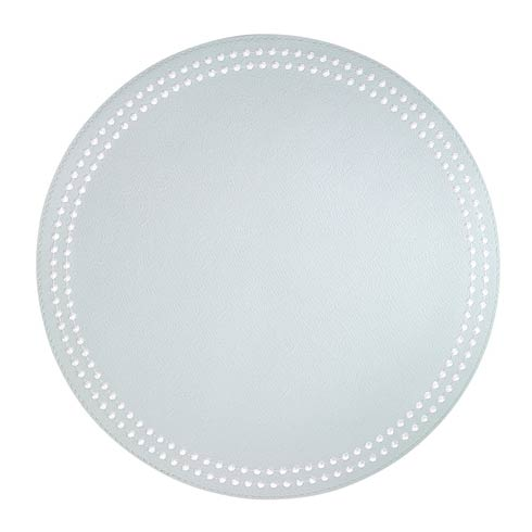 Pearls Celadon White Mats - Pack of 4