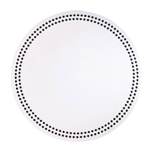 Pearls White Black Mats - Pack of 4