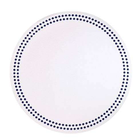 Pearls White Navy Mats - Pack of 4