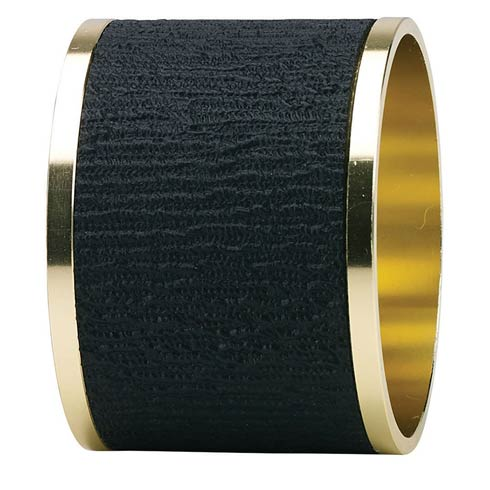 Presto Black Napkin Ring - Pack of 4