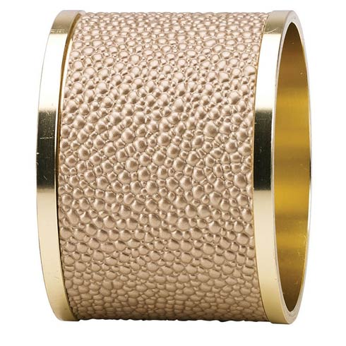 Skate Antique Gold Napkin Ring - Pack of 4