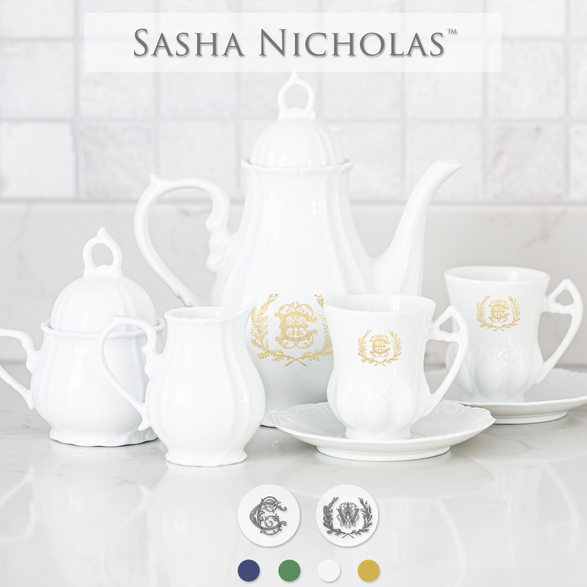 Quick Ship Sasha Nicholas Child's Tea Set
