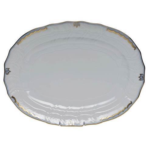 Belvin-Rehme Herend Princess Victoria Light Blue Platter