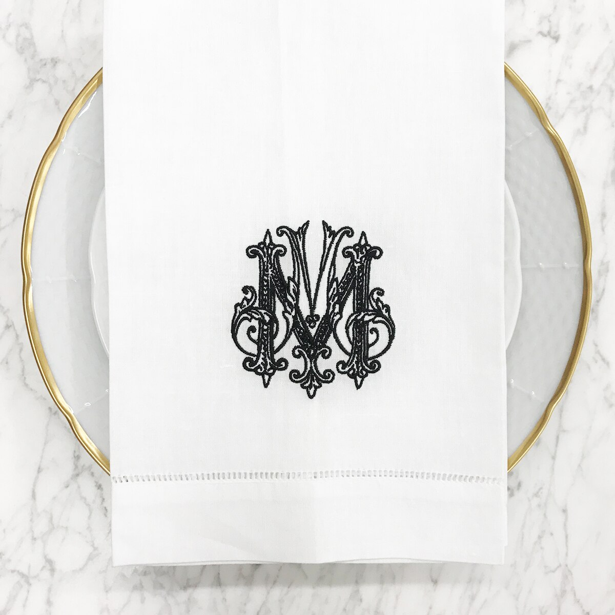 Customer's Own Monogram Digitization for Sasha Nicholas Linens