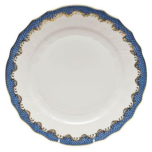 Harris-Morton Herend Fish Scale Blue Dinner Plate
