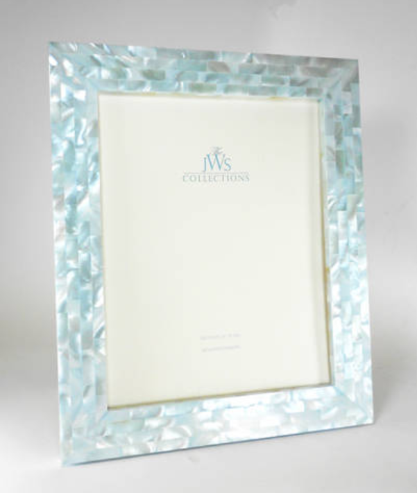 Blue Mother of Pearl Frame | 8x10