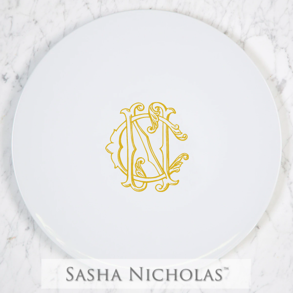 SN-Pantry Cake Plate | Two Letter Couture, CN, Gold