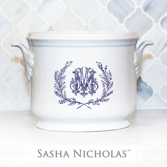 SN-Pantry Champagne Bucket | Couture Wreath, M, Navy