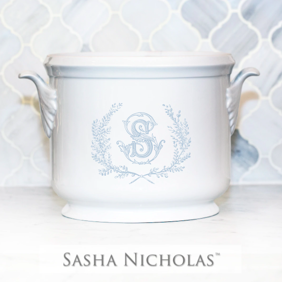 SN-Pantry Champagne Bucket | Couture Wreath, S, Light Blue