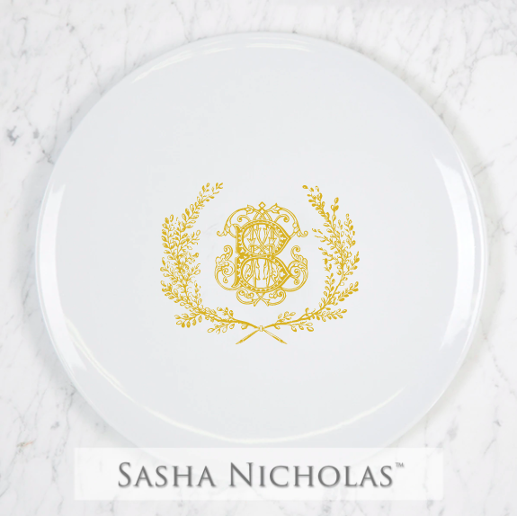 SN-Pantry Imagine Dinner Plate | Couture Wreath, B, Gold