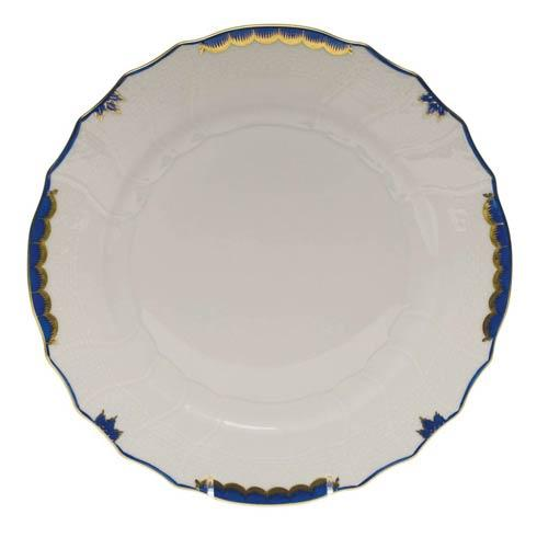 Canning-Allanson Herend Princess Victoria Blue Dinner Plate