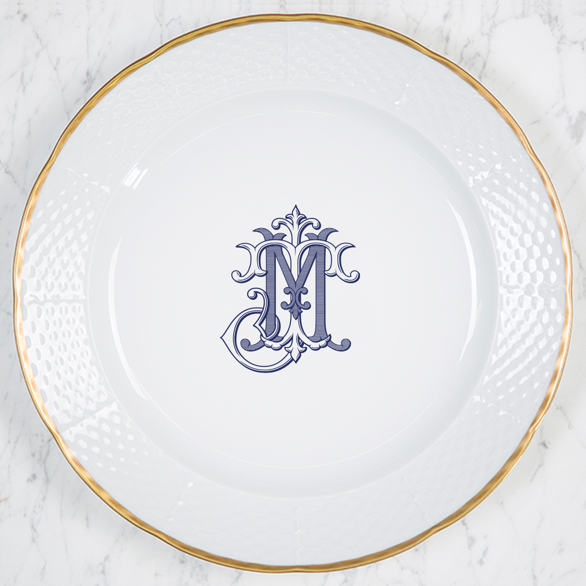 Cadle-Miles Weave 24K Gold Charger Plate
