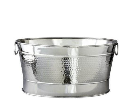 Rowland-Desloge Hammered Oval Party Tub