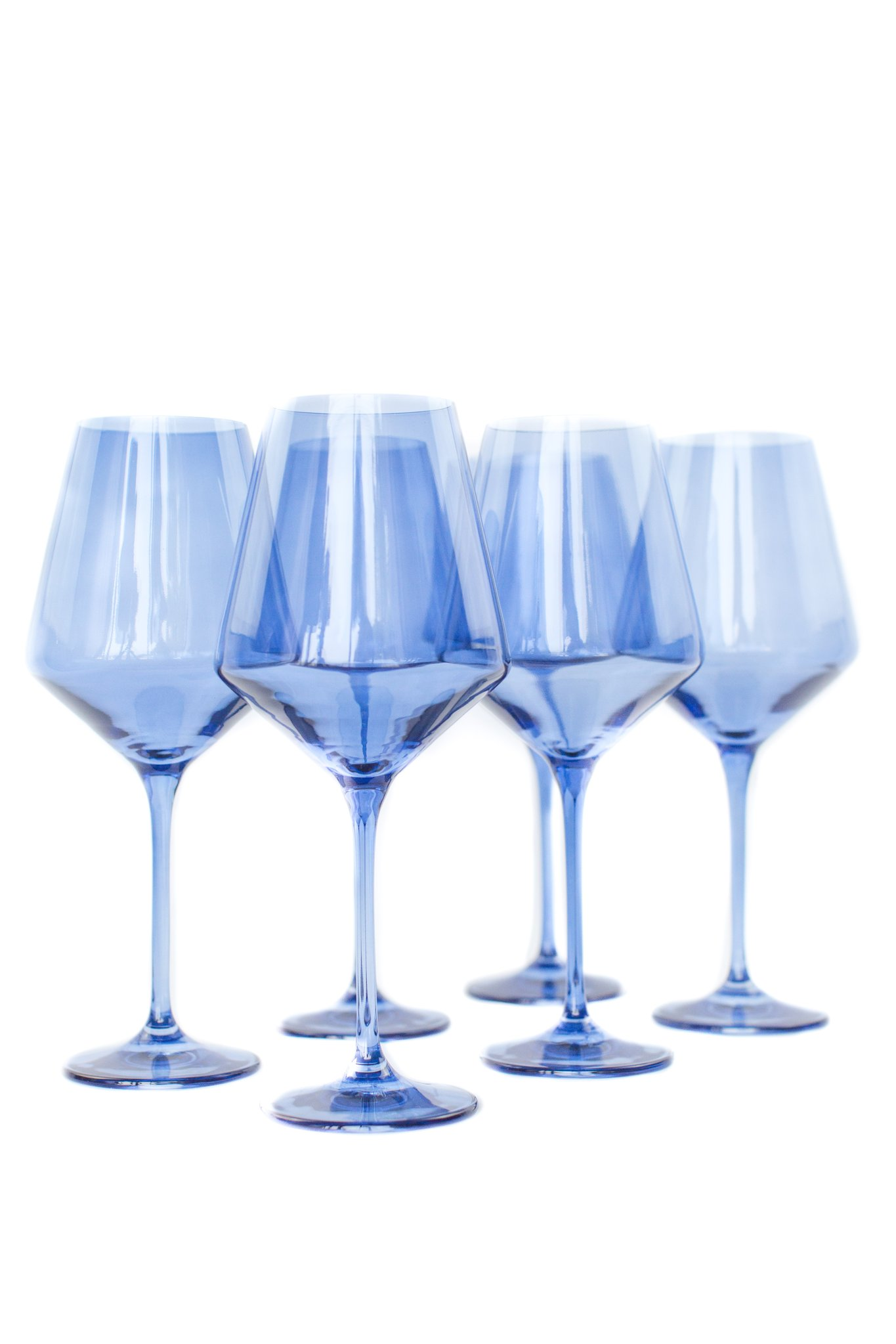 Estelle Colored Wine Stemware, Set of Six | Cobalt