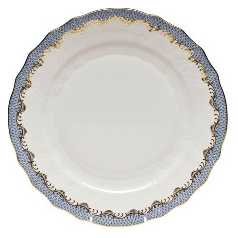 Randys Herend Fish Scale Light Blue Dinner Plate
