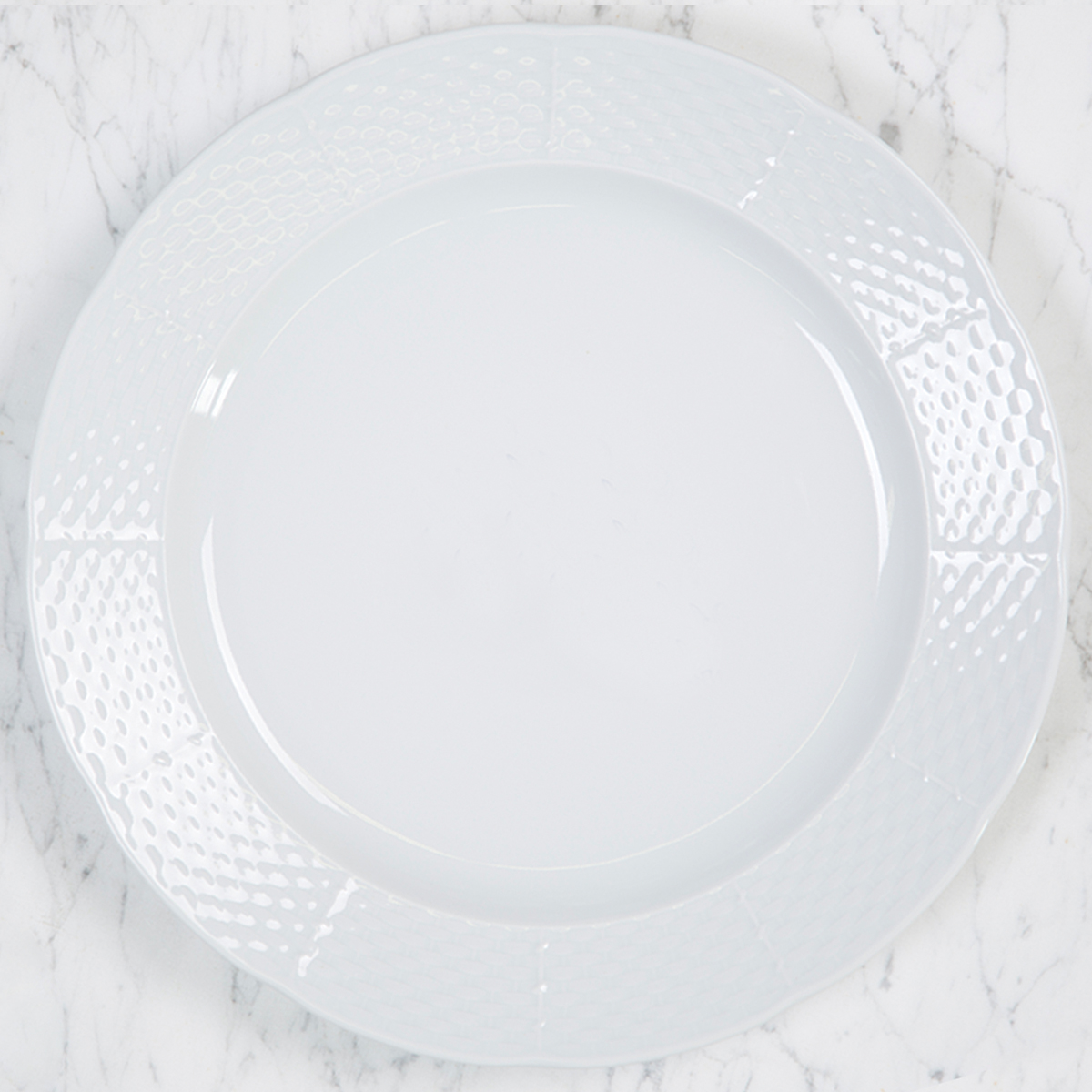 Sasha Nicholas Dinnerware Dishes Plate Dinner Wedding Registry Charger Gift Basketweave Dish Porcelain European Custom