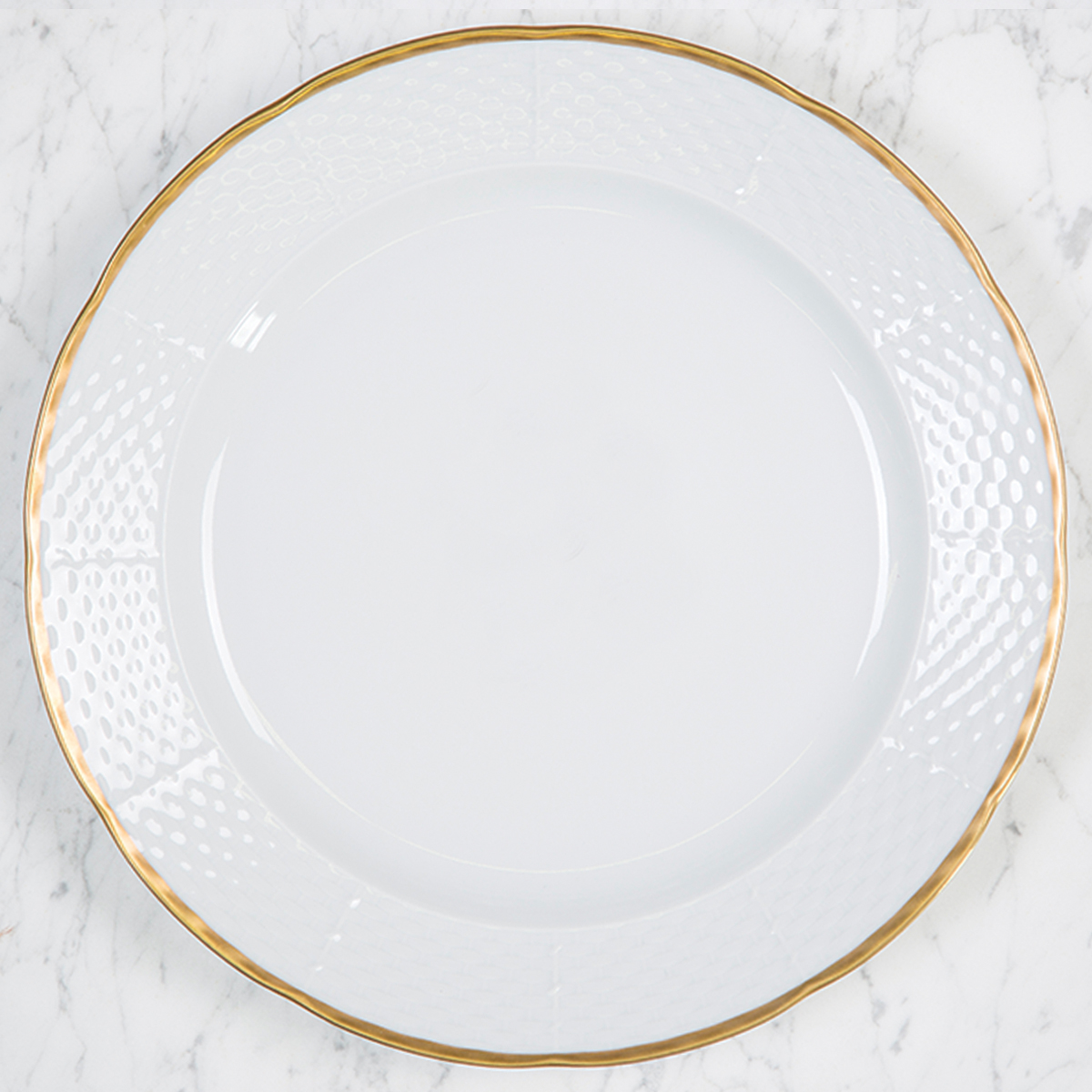 Watson-Elliotte WEDDING WEAVE 24K GOLD RIMMED CHARGER