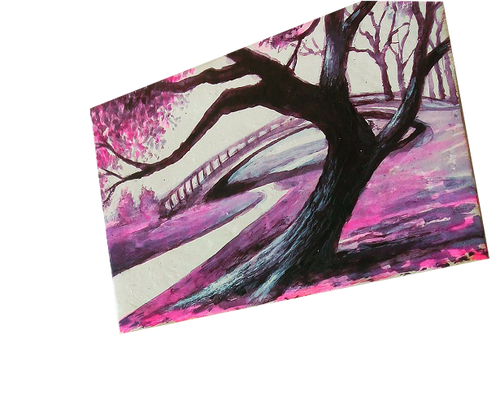 A Walk In The Park - original Matchbox Monday painting