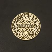 Solid Brass disk for Harley Davidson Sissy Bar