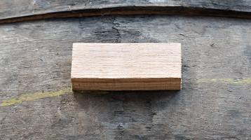 Whisky Barrel Stave Sgian Dubh Handle Blank - 92x37x17mm