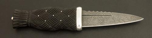Sgian Dubh in Bog Oak / Sterling Silver / Swedish Damasteel (SGTG21)