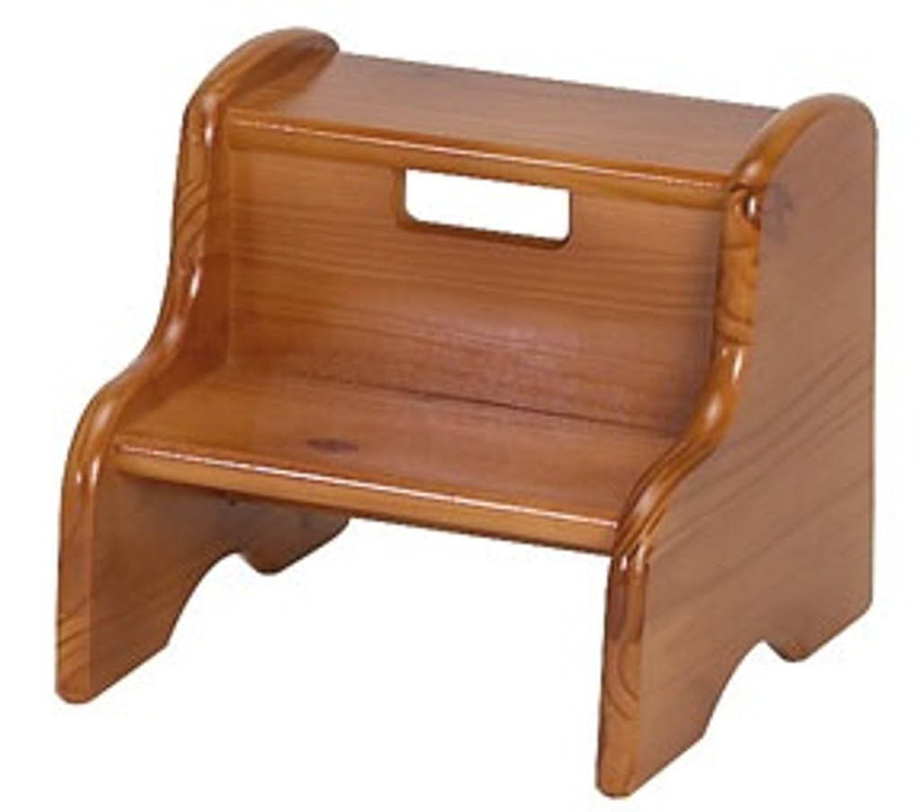 honey oak step stool