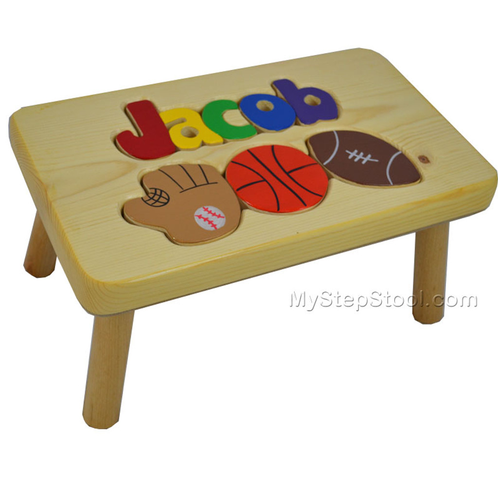 Awesome Puzzle Step Stool With Sports Evergreenethics Interior Chair Design Evergreenethicsorg