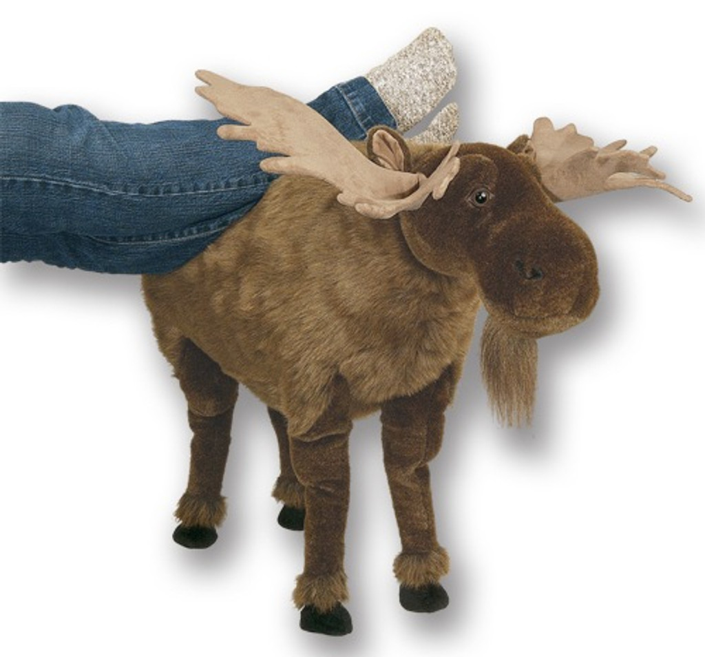 Plush Moose Footrest