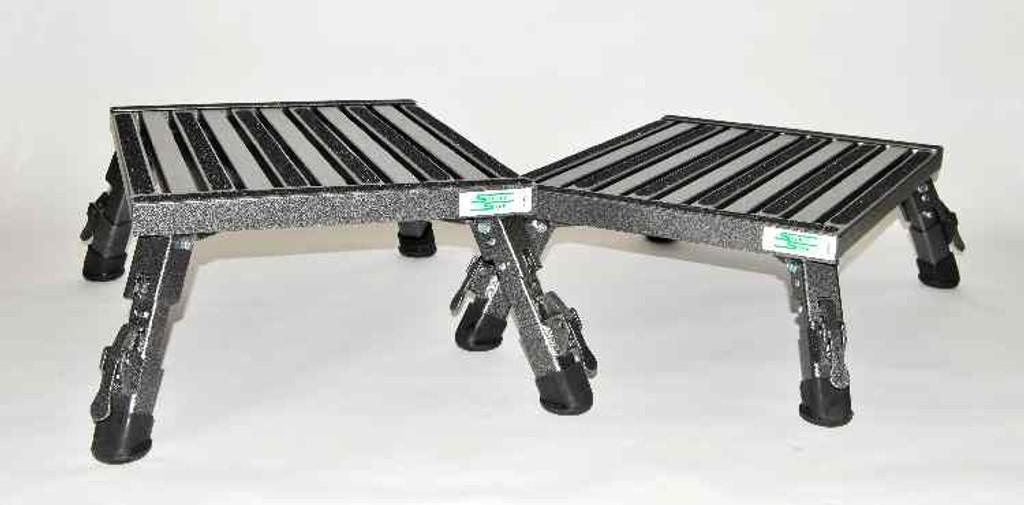 Extra Large Adjustable Height Folding Safety Step Stool
