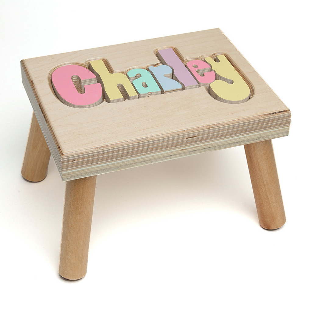 Maple Puzzle Name Stool