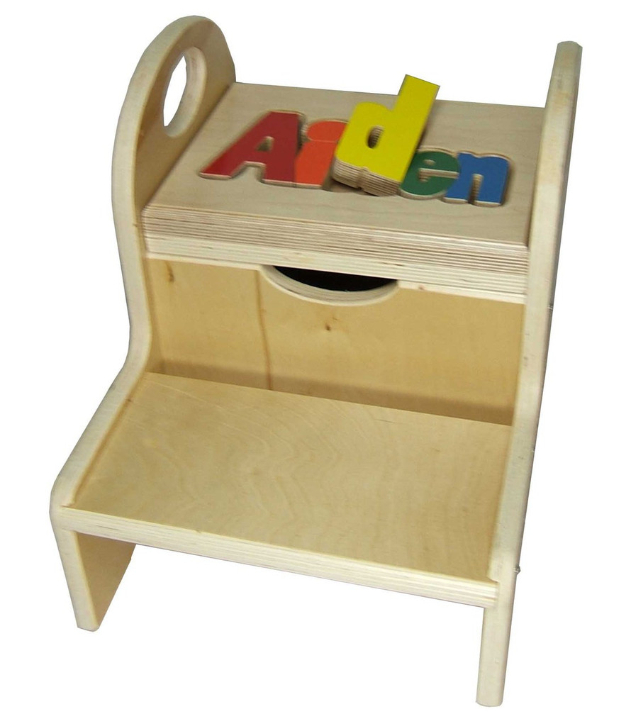 Two Step Puzzle Stool with Handles
