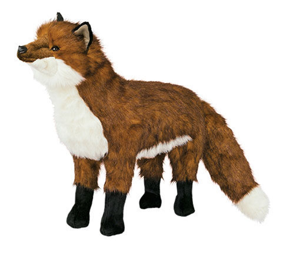 Red Fox Plush Footrest