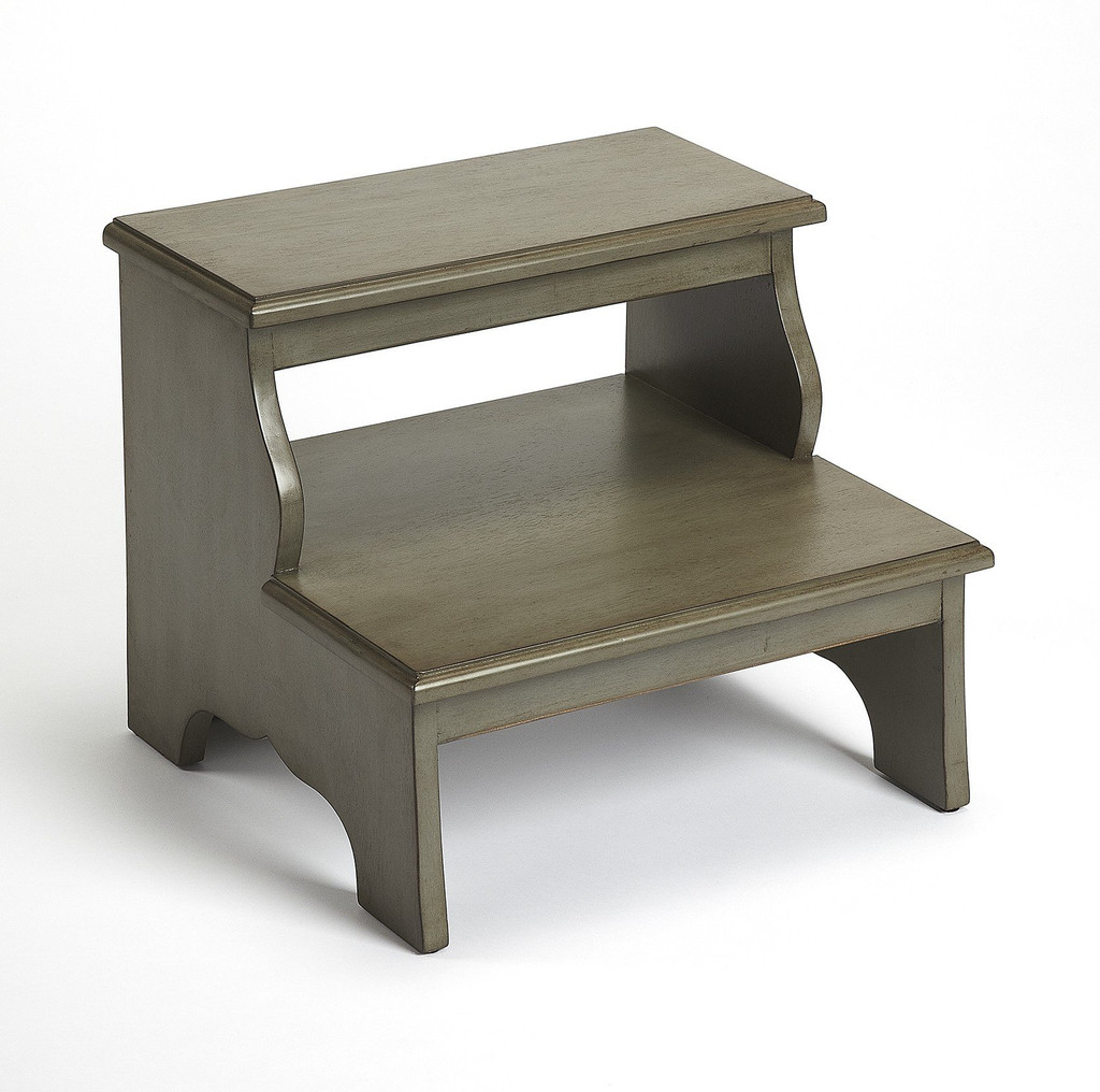 Silver satin step stool