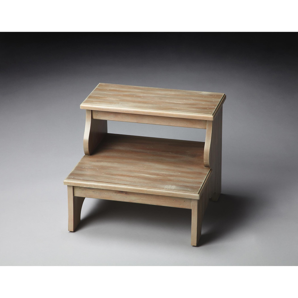 Driftwood finish step stool