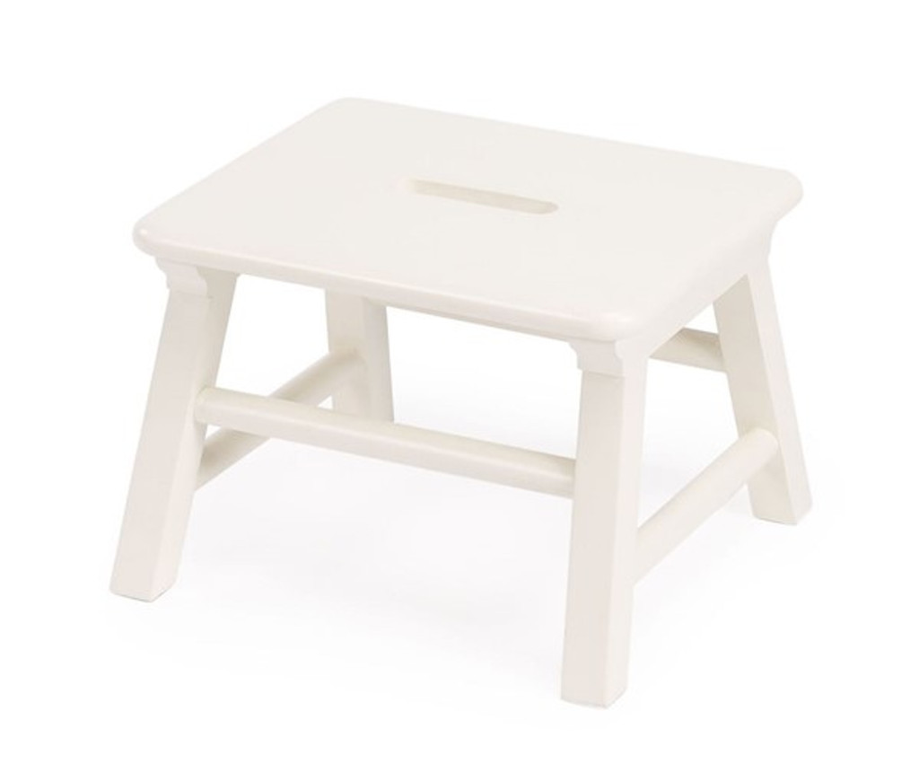 Single Step Stool in Cottage White