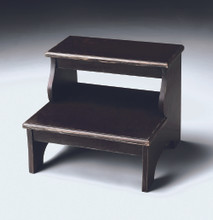 step stool in sable finish