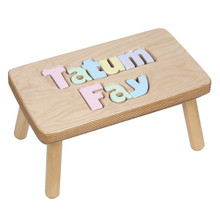 Puzzle Stool with Two Names