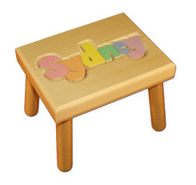 Digitally Cut Small Puzzle Step Stool