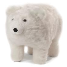 Frosty Plush Polar Bear Footstool