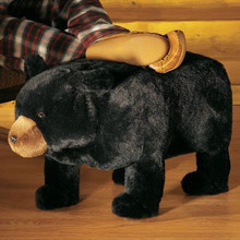 Plush Bear Footstool with Storage