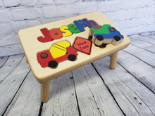 Construction Theme Puzzle Name Stool