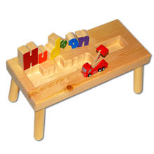 Fire Truck Name Puzzle Stool