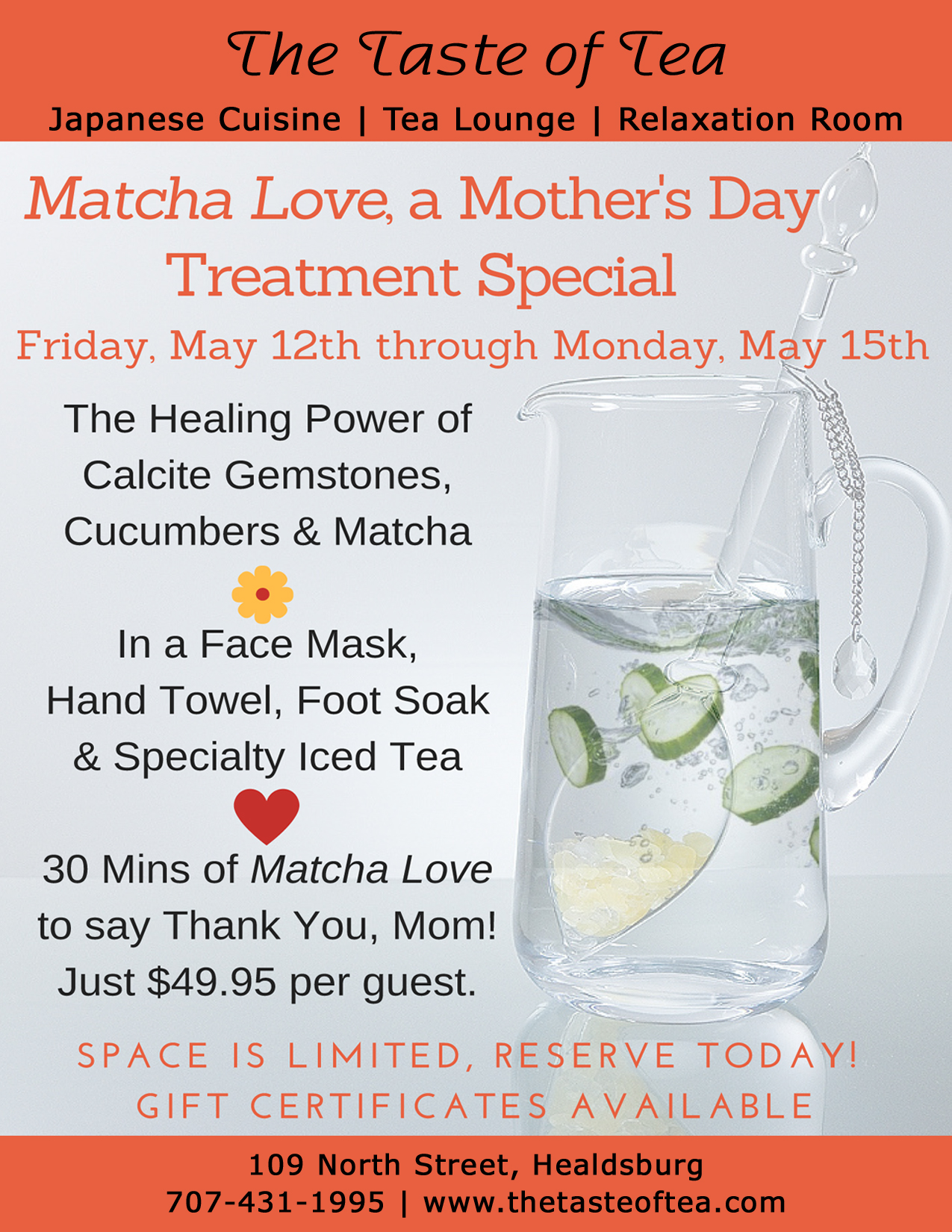 Matcha Love, Mother's Day Treatment