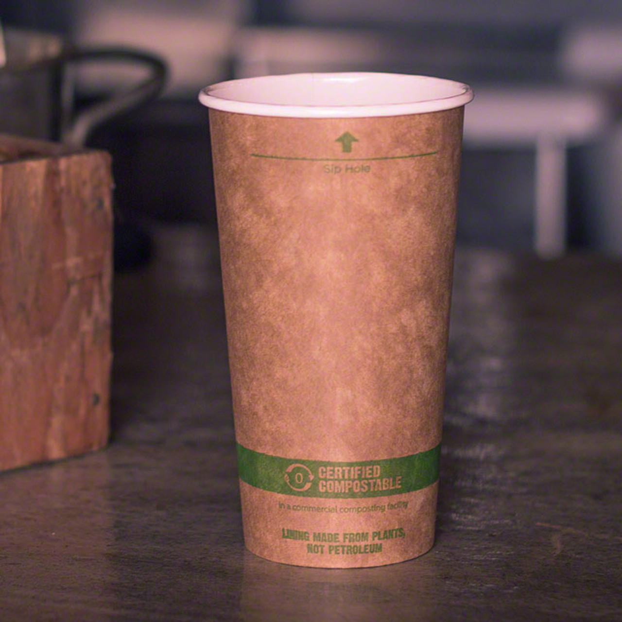 20 oz Kraft Compostable Hot Cup | Paper| 1000 count